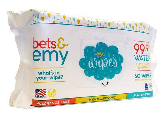 #9. BETS & EMY 540 Count 99.9% Water & 0.1% Citrus Extract American-Mom Baby Wet Wipes
