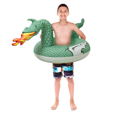 10. GoFloats Dragon Party Inflatable Pool Floats for Adults