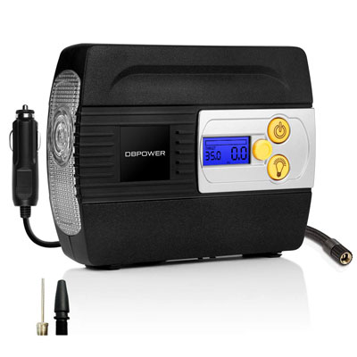 6. DBPOWER 12V Tire Inflator for Cars