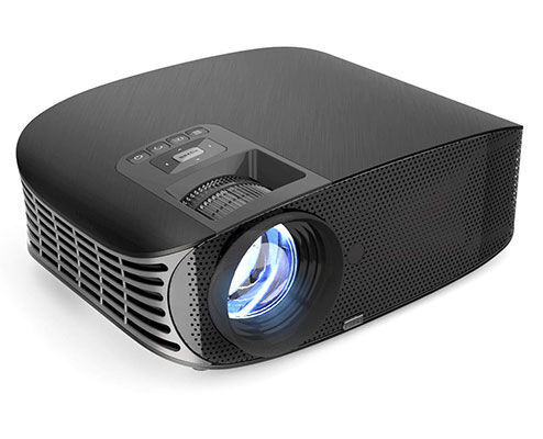 8. Vamvo 200Inch LCD Video Projector for Home Entertainment