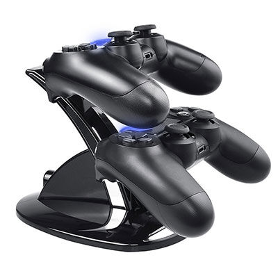 9. PS4 Controller charger, Tiancai Dual USB charging charger docking station