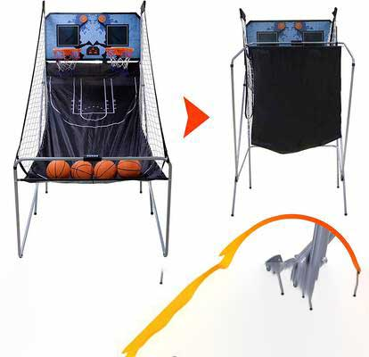 #3. Nova Microdermabrasion 2-Player Double Shot Foldable Indoor Basketball Arcade Game w/4 Balls