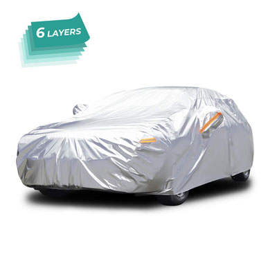 10. Audew Car Cover - Breathable UV Protection for Sedan, SUV