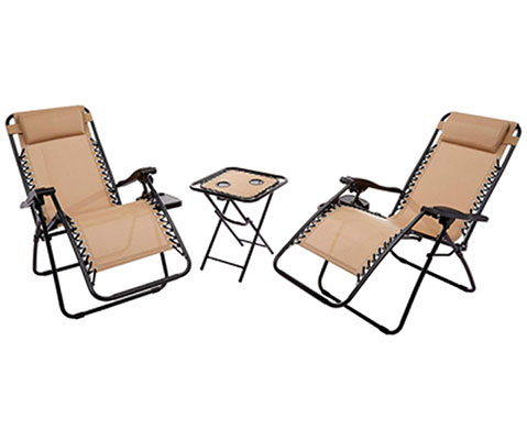 8. Laguna Home VC009 Zero Gravity Chairs With Side Table Set