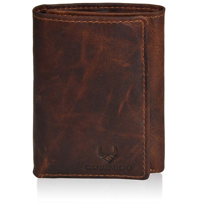 1. GRAINIDO Trifold Leather Wallet