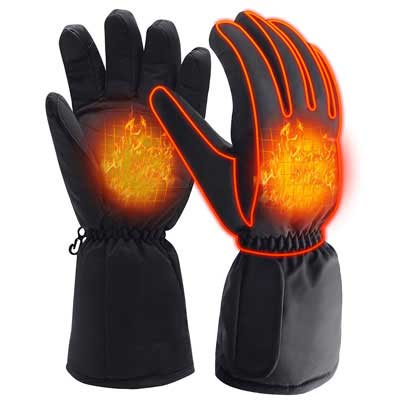 #7. QILOVE Winter Gloves for Men and Women with a Rechargeable Battery