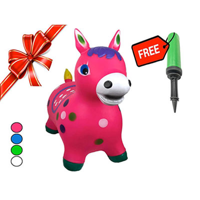 7. RIGMA Bouncy Horse - Eco-Friendly Toy for Kids (Pink)