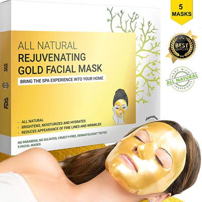 6. Doppeltree Golden Face Mask for Anti-Aging | Made with Hydrogel