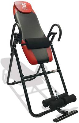 #8. Body Vision IT9825 Heavy-Duty Premium Inversion Table w/Adjustable Head Pillow (Red)