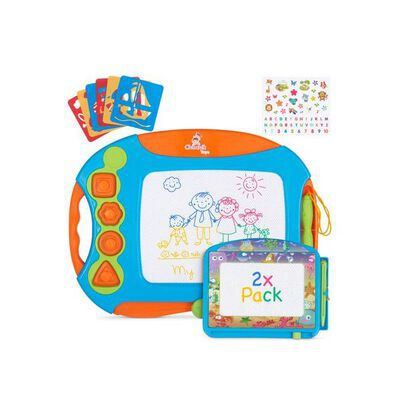 5. Chuchik Large 15.7 inch Magnetic Drawing Board Toy for Kids with 4 Colors