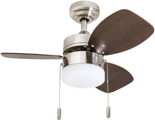 #8. Honeywell Ceiling Fans 50601-01 30'' LED Frosted Ocean Breeze Ceiling Fan (Satin Nickel)