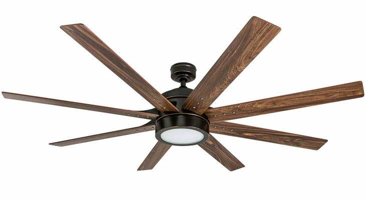 #2. Honeywell Xerxes 3 Reversible Speed Ceiling Fans 50609-01 Oil Rubbed Bronze Integrated LED