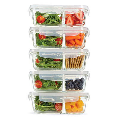 #3. Fit & Fresh Glass Food Storage Containers