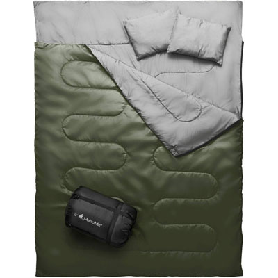 4. MalloMe Sleeping Bag - Lightweight and Waterproof for Camping