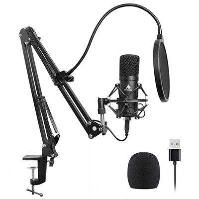 2. MAONO USB Microphone Kit, Plug & Play with Professional Sound Chipset