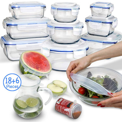 #2. Health Prep Glass Food Storage Containers