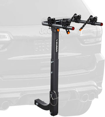 7. IKURAM Bike Rack for Cars, SUV's, minivans, and Trucks with a 2-inch Hitch Receiver