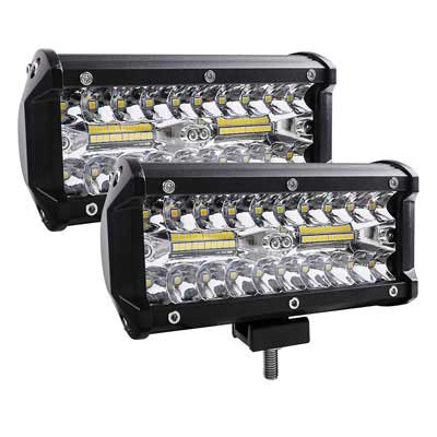 #8. Zmoon LED Fog Light 7'' 240W 24000LM with Spot & Flood Combo Beam off Road Lights.