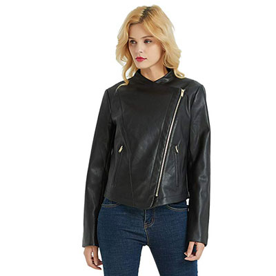 10. PANAPA Women's Faux Leather Jacket