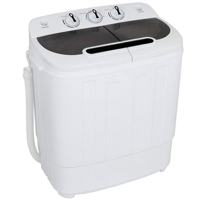 10. ZENY 2 in 1 Compact Washing Machine with Spin Cycle Dryer, Energy Saving