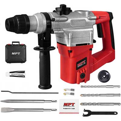 3. MPT 1Inch SDS-Plus 8.5 Amp Heavy Duty Rotary Hammer Drill