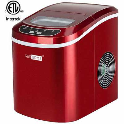 #8. VIVOHOME ETL-Listed 26lbs/Day Compact Portable Electric Countertop Ice Cube Maker