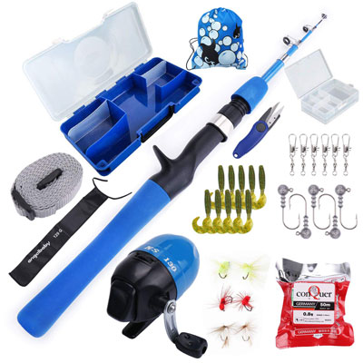 1. Multi Outools Kids' Fishing Pole for Fishing Starters