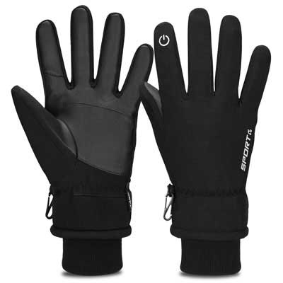 2. Cevapro Thermal Touchscreen -30℉ Winter Gloves for Running