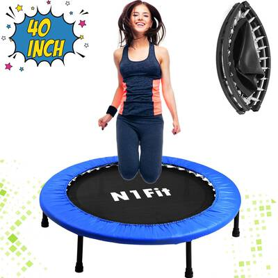 #2. N1Fit 40 Inches Trampoline for Adults for Home Cardio Workouts