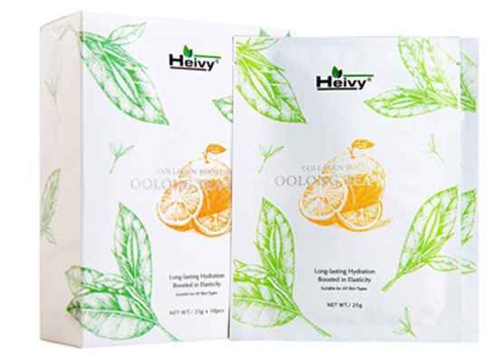 7. Heivy Collagen Boosting Tea Mask to Boost the Skin Elasticity