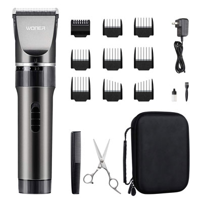 2. WONER Hair Trimmers, Cordless, and Rechargeable for Women, Fathers & Mothers