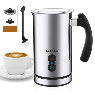 2- CHULUX Electric Milk Frother with Whisks Control