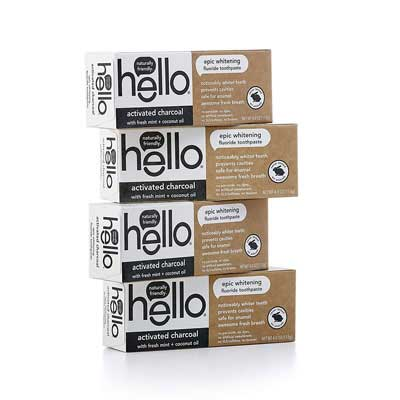 6. Hello Oral Care Whitening Toothpaste, Vegan and SLS Free