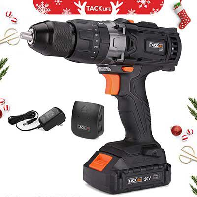 #10. TACKLIFE Cordless Drill, 2-Speed Max Torque 310 In-lbs
