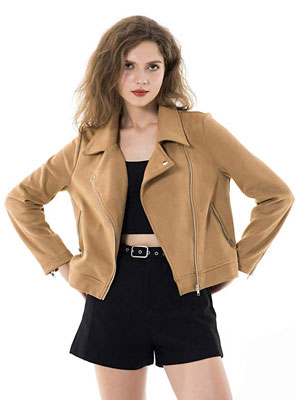 7. Apperloth Faux Suede Women's Jackets - Long Sleeve