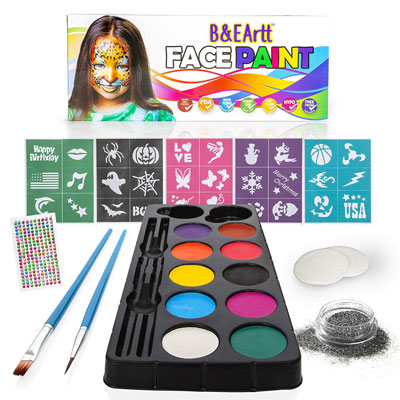 4. B&E Artt Face Painting Kit for Sensitive Skin