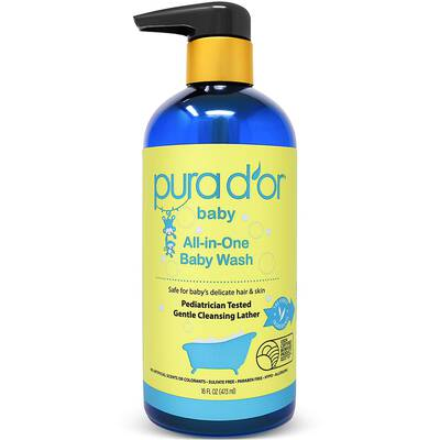 #2. PURA D'OR Baby Wash, Tear-Free and Hypoallergenic