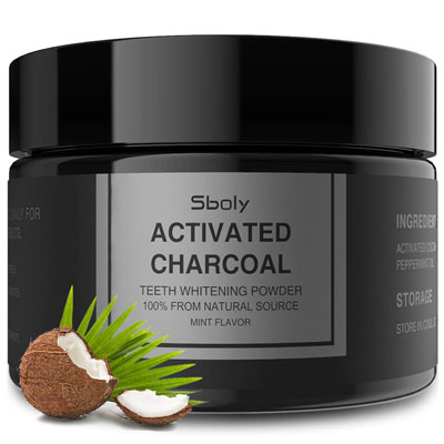 10. Sboly Activated Charcoal 2.11Oz Natural Tooth Powder