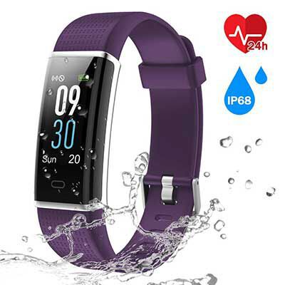 1. CHEREEKI Fitness Trackers, with a Color Screen and a Sleep Monitor for the Kids
