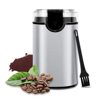 3. Keenstone Electric Coffee Grinder, Silver
