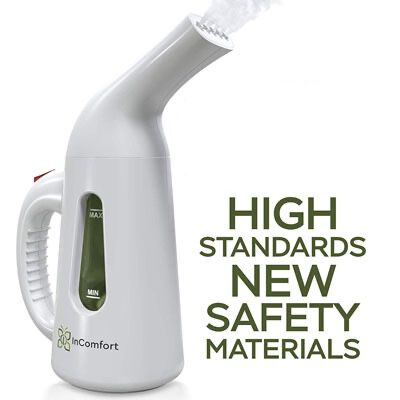7. inComfort Hand-Held Clothes Steamer - 140ml tank capacity