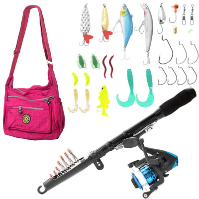 2. SUNNYGO Telescopic Fishing Rod and Reel for Kids