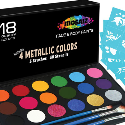 6. Mosaiz Face Painting Kit for Birthday Parties
