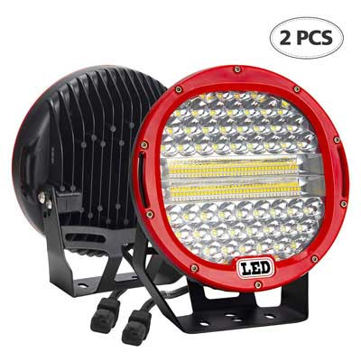 #1. BEAMCORN 2Pcs 9'' 384W 38400LM LED Light Bar Combo (Flood & Spot) off Road Lights
