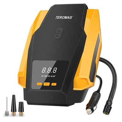 TEROMAS Air Compressor Pump with Digital Display (yellow)