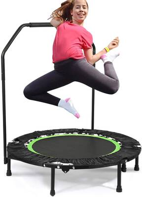#9. Plohee Portable and Foldable Fitness Workout with an Adjustable Handrail