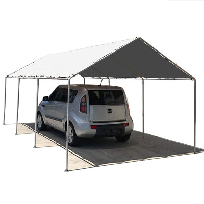 5. Alion Home Waterproof Car Canopy (White)