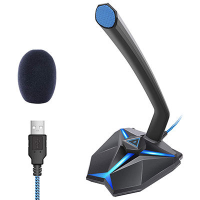 6. TONOR USB Microphone with LED Indicator