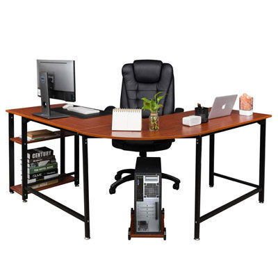 9. Bonnlo Large Reversible L Shaped Desk