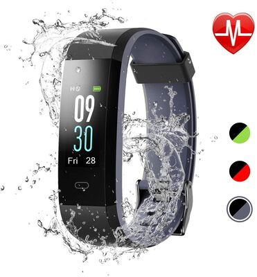 8. LETSCOM Fitness Tracker, IP68 Waterproof, Calorie Counter and Sleep Monitor